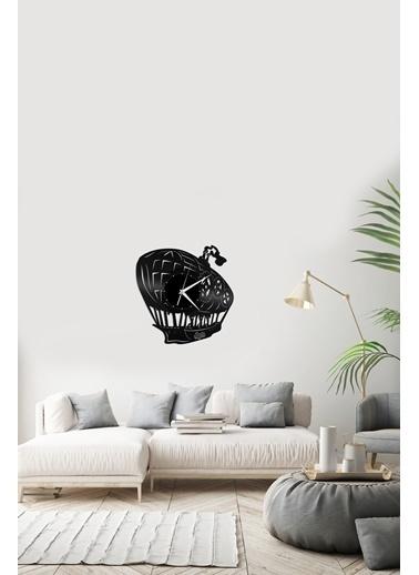 Angemiel Home BalonPleksi Duvar Saati Siyah